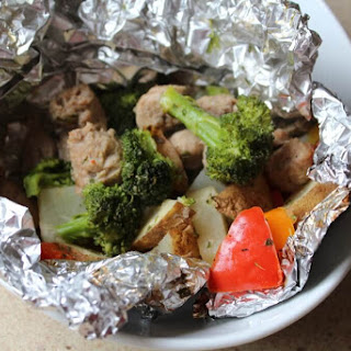 Grilled Sausage Vegetable Packets