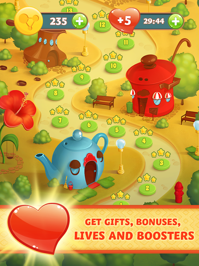 Bacteria: Fun and Free Match 3- screenshot