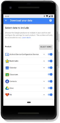 Google account Privacy Checkup screen