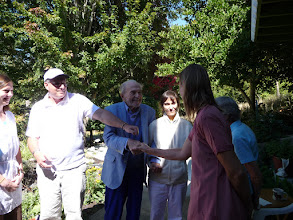 Photo: Swamiji greeting Aimee 8/12