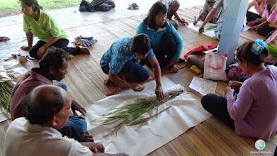 Photo: Data analysis & group discussion TOT3, Tha Tum, Surin