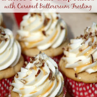 Butter Pecan Cupcakes with Caramel Buttercream Frosting