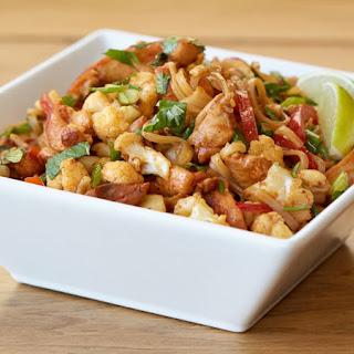 Thai Noodles with Chicken and Cauliflower Recipe