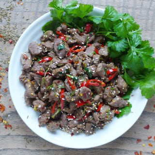 Spicy Cumin Lamb Stir-fry (孜然羊肉).