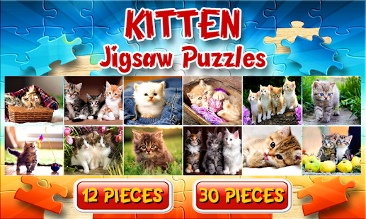 Kitten Cat Jigsaw Puzzles Game Free - náhled
