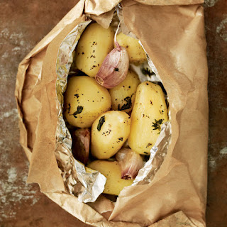 Potatoes With Thyme And Garlic.