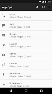 App Ops - Permission manager- صورة مصغَّرة للقطة شاشة