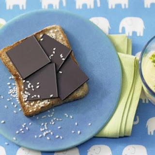 Chocolate Toast with Mango Smoothie