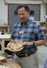 Photo: Stan Wellborn made two lovely and different bowls out of a piece of highly figured chestnut burl.