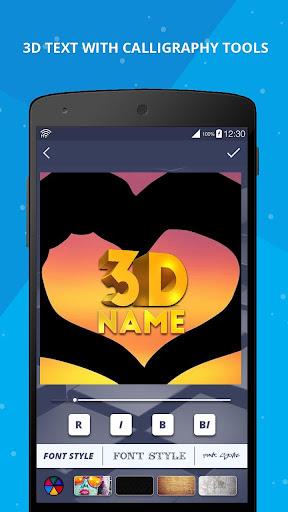 3D Name on Pics - 3D Text 8.1.1 screenshots 3
