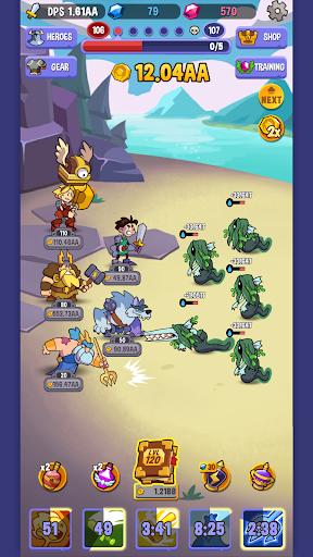 Code Triche Idle Quest Heroes APK MOD (Astuce) screenshots 4
