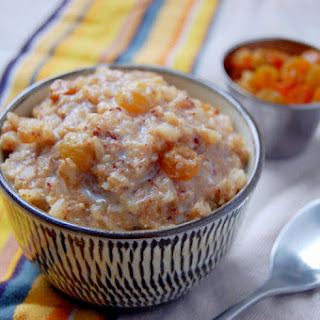 Slow Cooker Breakfast Rice Pudding with Golden Raisins.