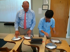 Photo: Testing prototypes in the classroom.