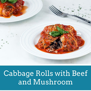 Cabbage Roll with Beef and Mushroom.