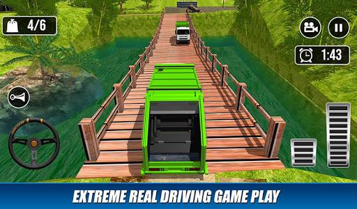 Offroad Garbage Truck: Dump Truck Driving Games apktram screenshots 3