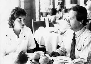 Photo: Amado Moreno con Arancha Sánchez Vicario, en el hotel Santa Catalina de Las Palmas de Gran Canaria