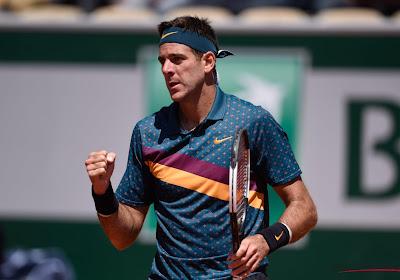 Juan Martin del Potro plaatst zich voor tweede ronde op Roland Garros