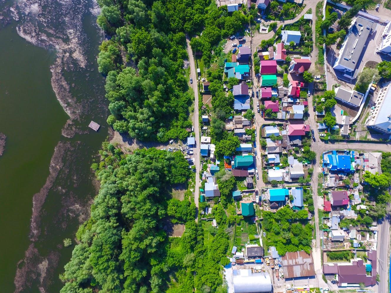 Запанской, поселок имени Шмидта с высоты