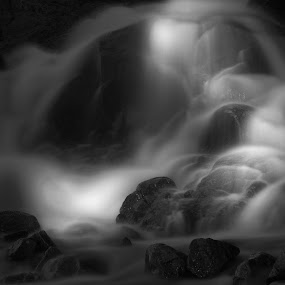 Interplay by AJ Schroetlin - Landscapes Waterscapes ( water, light painting, shadow, rocky mountain national park, aj schroetlin, light )