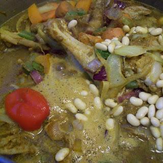 West Indies Curry Chicken.