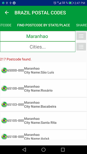 Brazil Postal Code screenshot 6