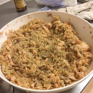 Teriyaki Salmon Fried Rice