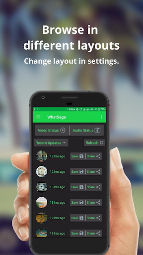 WhatSaga   Longer Stories   Save Status screenshot 7