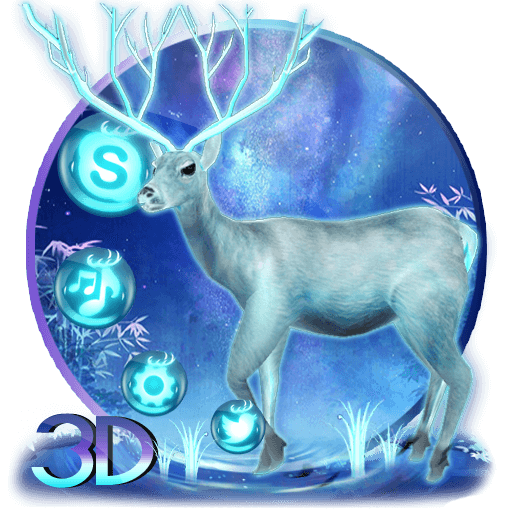 Neon blue deer theme (app)
