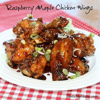 Raspberry Maple Chicken Wings