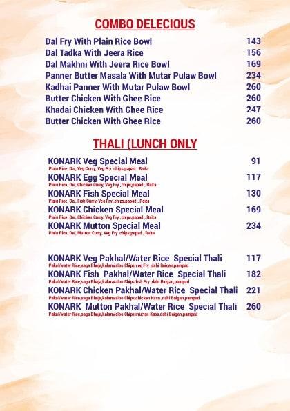 Konark Restaurant menu 6