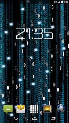 android Matrix HD Live Wallpaper Screenshot 0