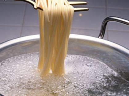 Boil heavy salted water for pasta. Cook pasta adente saving cup of starchy water...