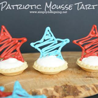 Patriotic Mousse Tarts.