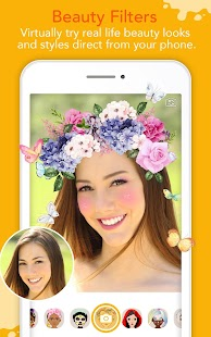 YouCam Fun - Snap Live Selfie Filters & Share Pics Screenshot