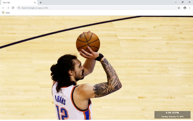 Steven Adams New Tab & Wallpapers Collection