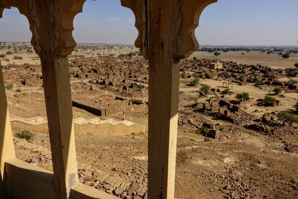 Thar. Desert Camel Trekking Day 3. Abandonned Kuldhara Village from Khaba Fort