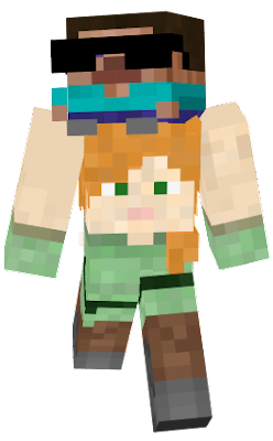 Fixed the missing hair/ skin on the side of Alex's face and missing part of her pants texture