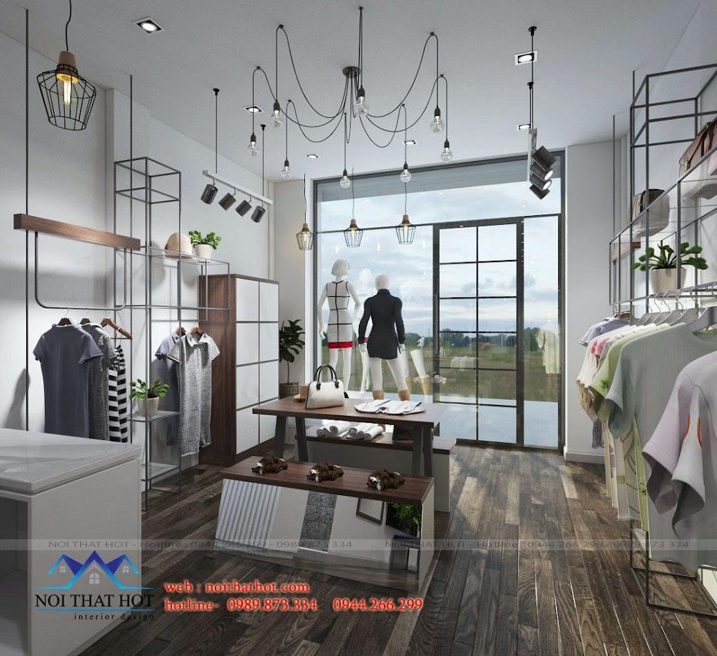 thiết kế shop thời trang 75m2 tại hà nội