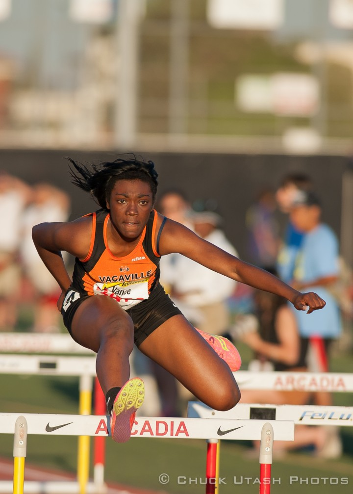 Vacaville National Shuttle Hurdles Record - Photo by Chuck Utash