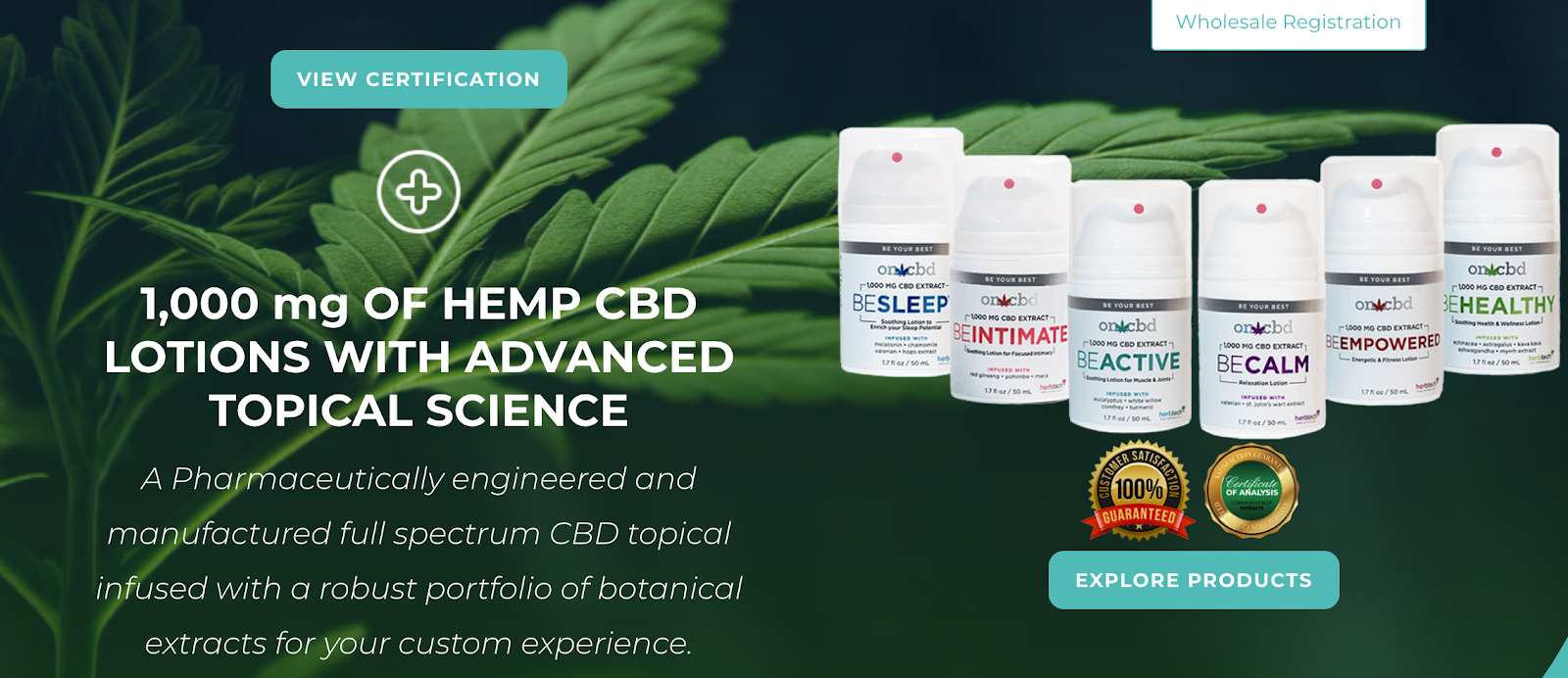 HerbTech Pharmaceuticals | Hemp CBD Lotions