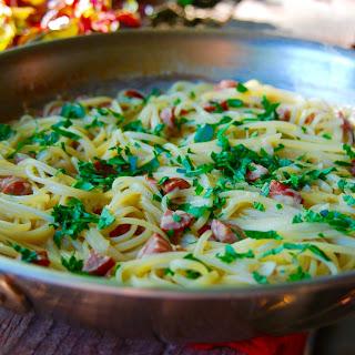 Spaghetti with Lemon Cream Sauce