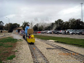 Photo: Pete Greene on the station bypass.    2013-1116 DH3