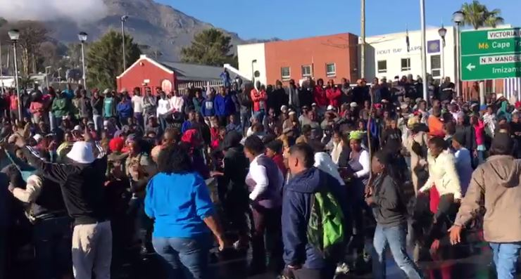 Hout Bay protests.