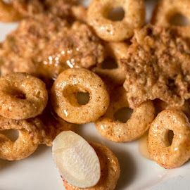 Cereal by Sergio Yorick - Food & Drink Candy & Dessert ( close up, cereal, color, honey, food )