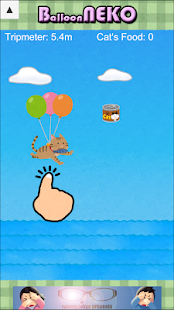 Balloon NEKO Avoid the iron balls,collect cat cans - náhled