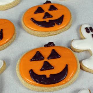 Halloween Sugar Cookies With Royal Icing [Vegan].