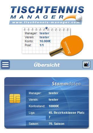 Tischtennis Manager 1.2.0 screenshots 1