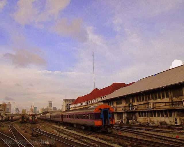 September 2013 - Arriving Bangkok after an overnight 10 hours train ride from Nong Khai, northern Thailand