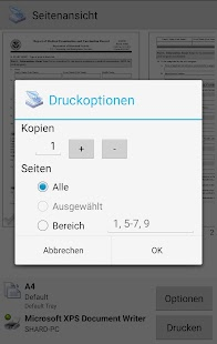 PrinterShare Drucken Screenshot