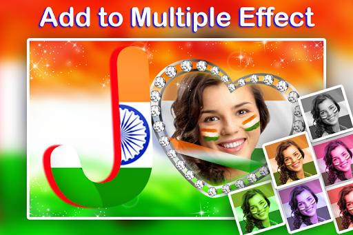 Indian Flag Text Photo Frame screenshot 7